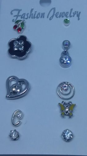 Post-back Stud Pierced SINGLE EARRING Mixed Lot #A767