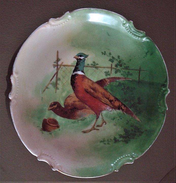 Vintage Coronet Limoges France Porcelain Plate. Hand Painted, L Coudert Signed
