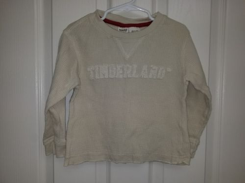 TIMBERLAND Beige/ Cream Waffle Knit Long Sleeve Shirt, Boys 4T.  *Free Shipping*