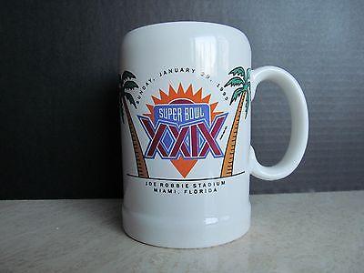 RARE! Vtg. NFL Super Bowl XXIX (29) 1/29/95 Miami, FL Ceramic Beer Mug Stein EUC