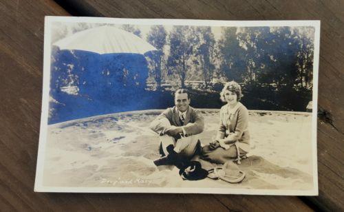 Doug & Mary vintage photo postcard rppc Mary Pickford Douglas Fairbanks