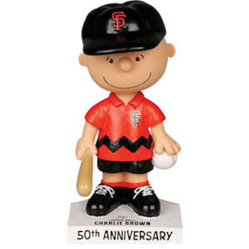 SF Giants Charlie Brown 50th Anniversary Bobblehead San Francisco SGA AT&T Park