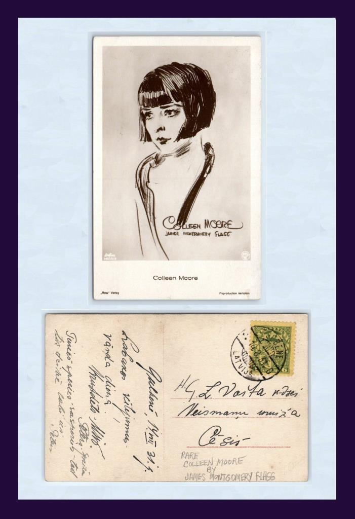 MOVIE ACTRESS COLLEEN MOORE BY JAMES MONTGOMERY FLAGG POSTED WITHIN LATVIA 1931