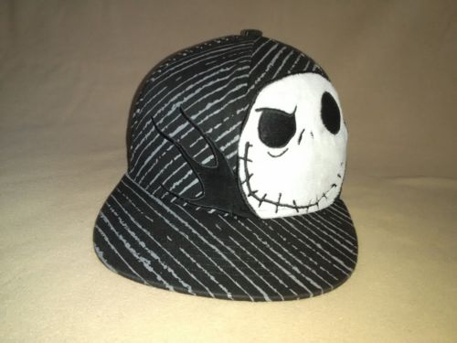 Disney Nightmare Before Christmas M/L Fitted Black Hat