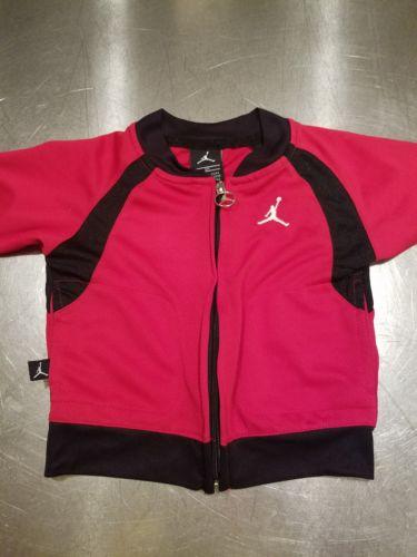 AIR JORDAN red and black zippered top  12m RN#81917 CA #18702