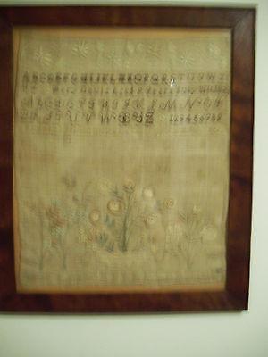 1820 c. NEEDLEWORK SAMPLER, MARY DAVIS, STONINGTON, CT.