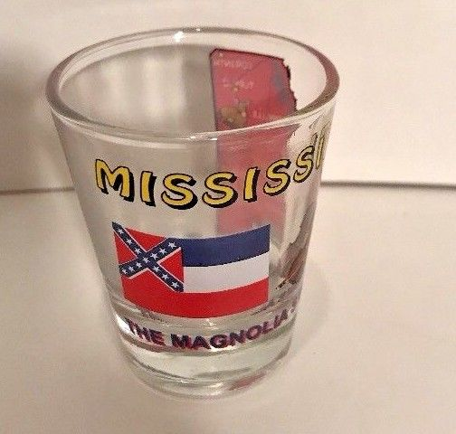 Mississippi The Magnolia State All American Collection Shot Glass Souvenir
