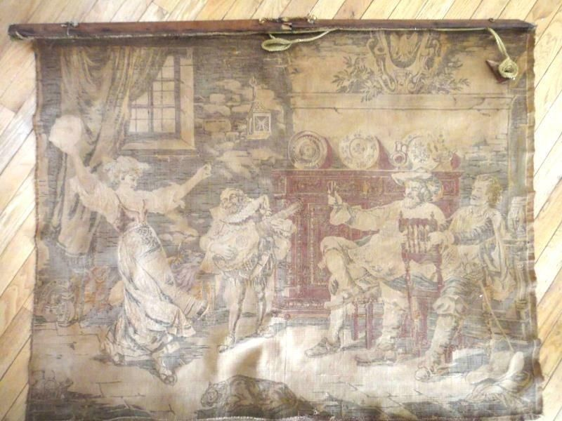 1800s (or earlier) antique TAPESTRY 48