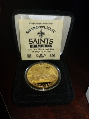 NEW ORLEANS SAINTS CHAMPIONSHIP COIN #1434 OF 10000 SUPER BOWL XLIV