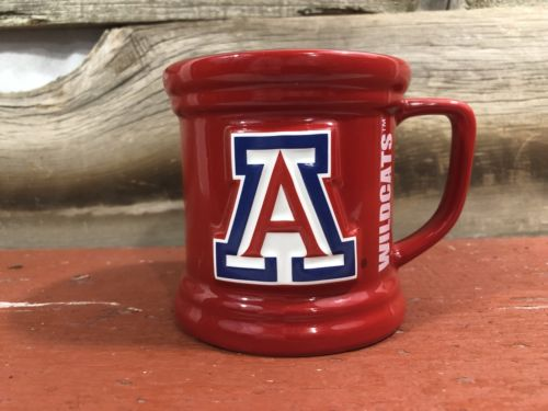 Arizona Wildcats Coffee Cup 11 Oz Relief Officially Licensed Red Blue NCAA New