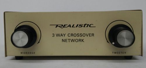Realistic 3 Way Crossover Network.  New, Old Stock From Radio Shack