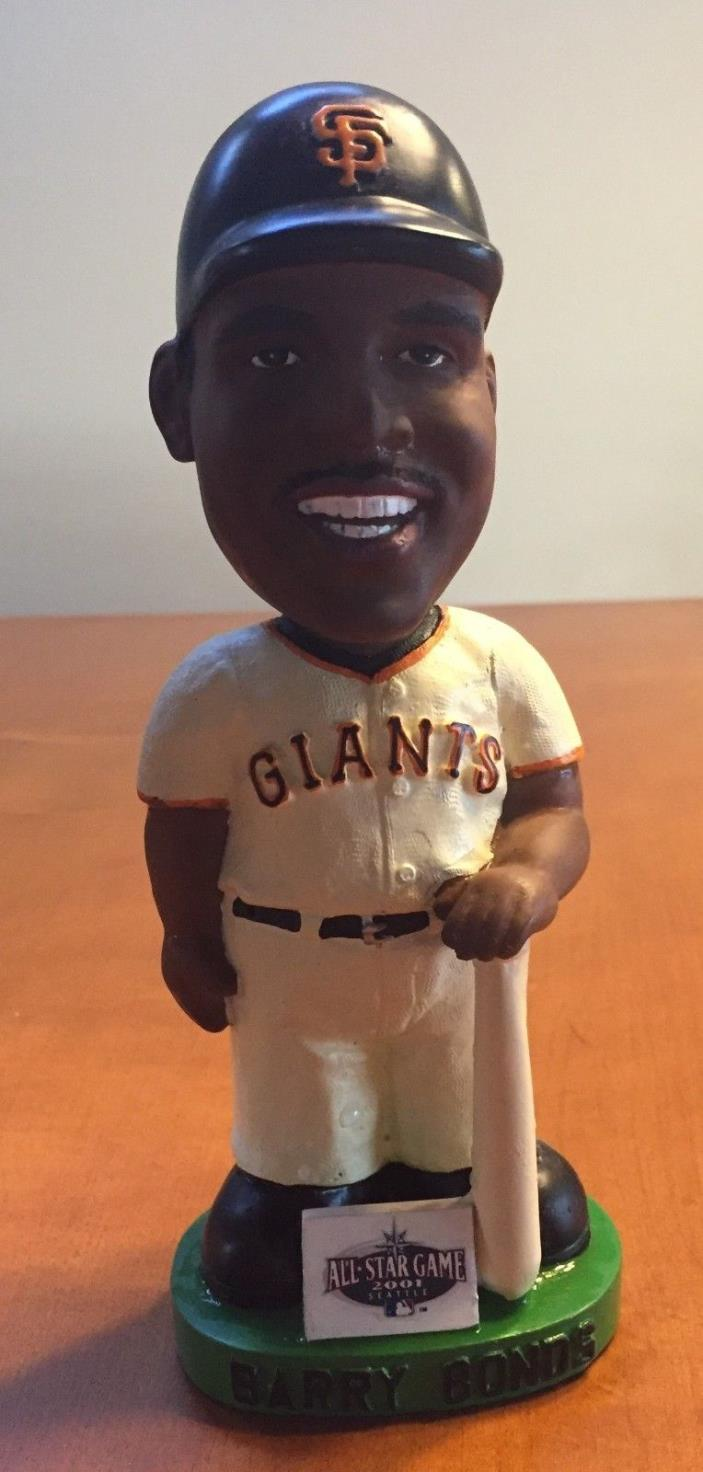 Barry Bonds 2001 Bobble Head All Star San Francisco Giants White Jersey.