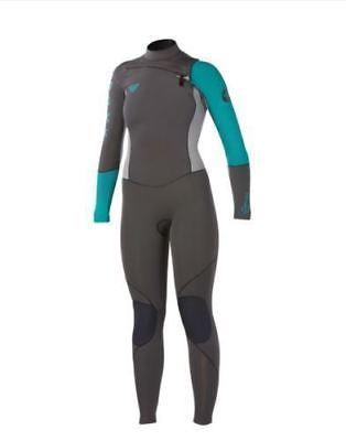 NEW Quiksilver ROXY Women CYPHER Wetsuit 4/3 Full Chest Zip