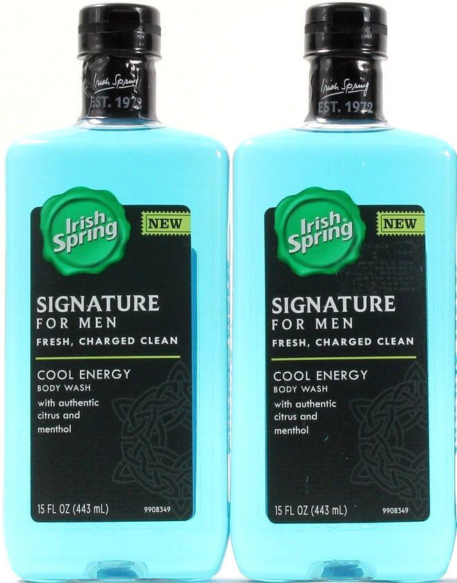 2 Irish Spring Signature For Men Fresh Charged Clean Cool Energy Body Wash 15 Oz