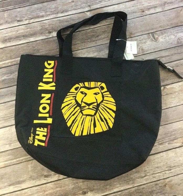 Disney VIP Broadway Musical The Lion King Zip Black Tote Bag NWT