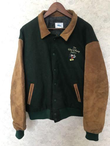 Mickey Mouse Disney Studios Varsity Letterman Bomber Jacket Size L