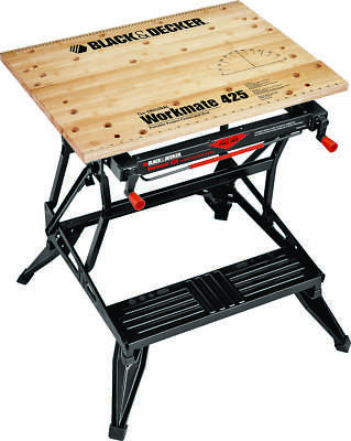 Workmate WM425 Heavy Duty Work Bench, 550 lb, 30 in H X 29 in W X 21-3/4 in D,