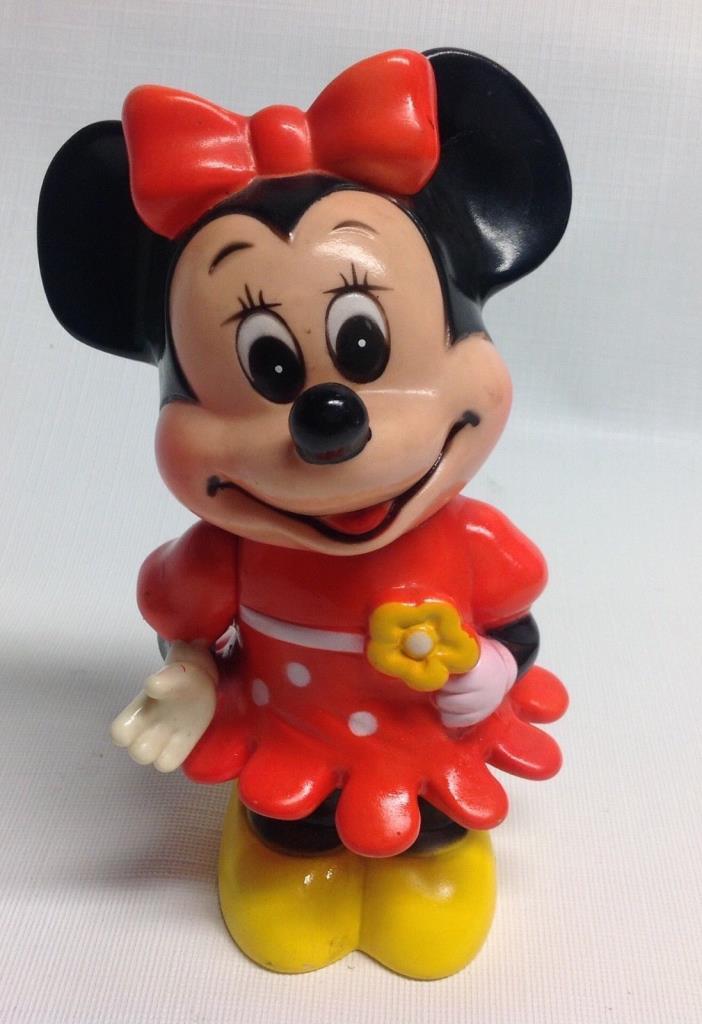 Vintage Walt Disney Production Plastic Minnie Mouse Bank