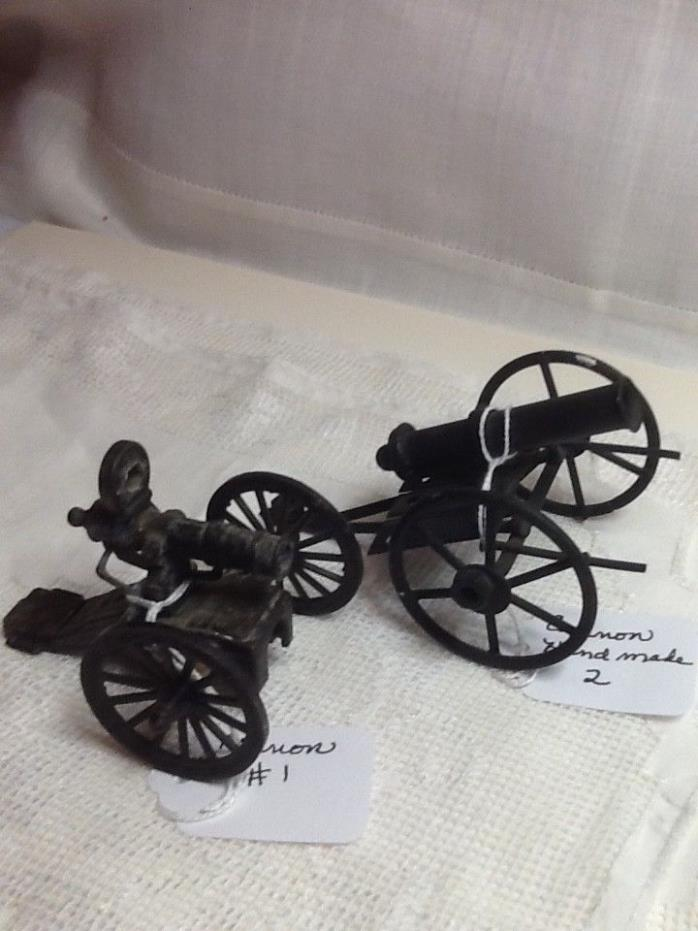 Miniature Metal Cannons - Set of 2