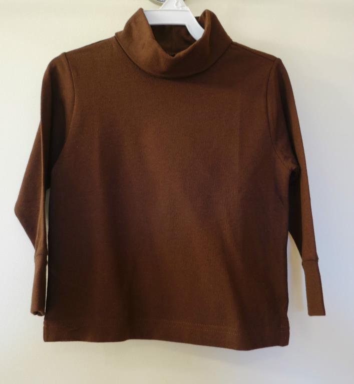 Brand New Kelly's Kids Cameron Dark Brown Turtleneck Top ~ Size 6 Months