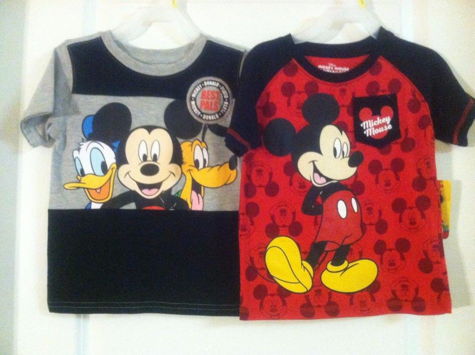 Boys~Mickey Mouse Club-House~Mickey Mouse~Red/Black/Gray Shirt~Lot 2~New~ 3T