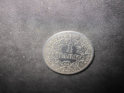 1875A Germany 1 Mark Silver Coin---Nice Condition