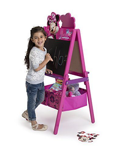 Kids Art Easel Wooden Double Sided w/ Storage Chalkboard Dry Erase Sketch Board