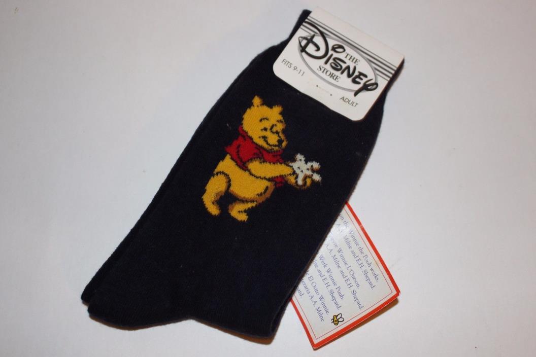 Winnie the Pooh Disney Socks Adult US Size 9-11 Nautical New