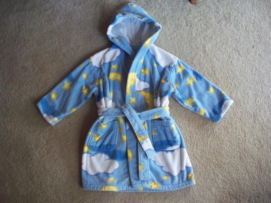 BULLFROGS & BUTTERFLYS  Hooded Velour/Terry Robe, EUC, S (ages 3-5) $4.99