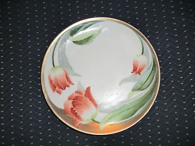 P L Bavaria red tulip salad plate