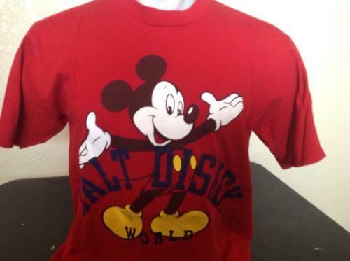 Vintage Mickey Mouse Walt Disney World T Shirt Disney Designs Tag