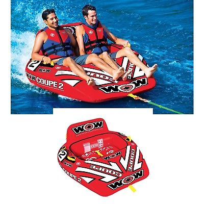 Wow 15-1030 Coupe Cockpit Water 1 to 2 Person Rider Tube Inflatable Towable Pool