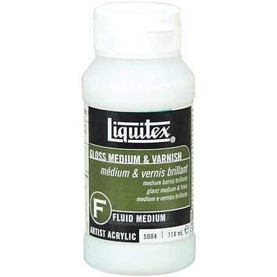 Liquitex Gloss Acrylic Fluid Medium & Varnish 4oz 094376923780