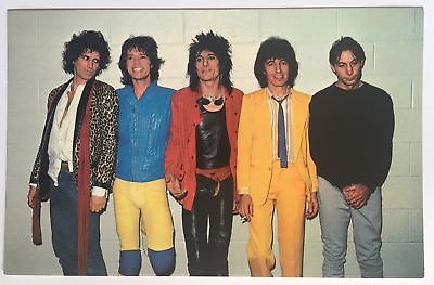 THE ROLLING STONES -SINGERS BAND - POSTCARD  - NEW