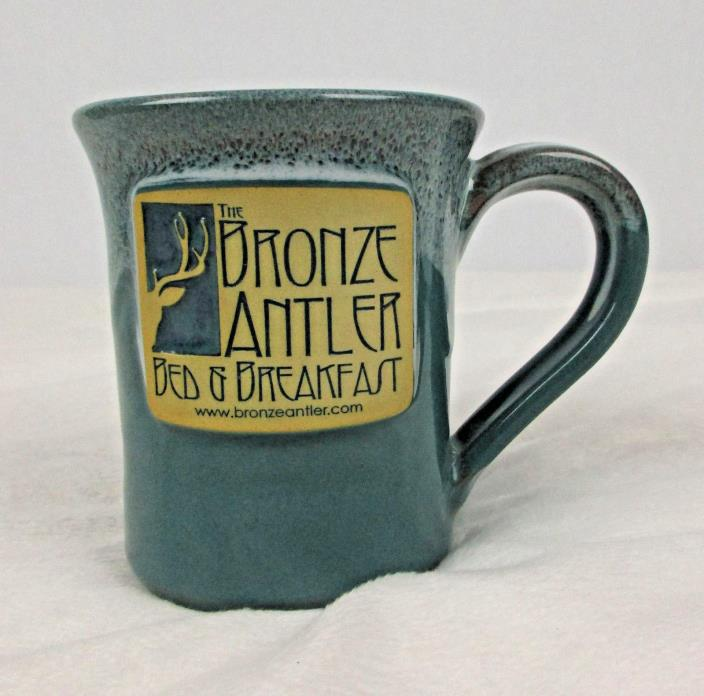 Deneen Pottery Handthrown Mug Coffee Cup Bronze Antler Bed & Breakfast Joseph OR