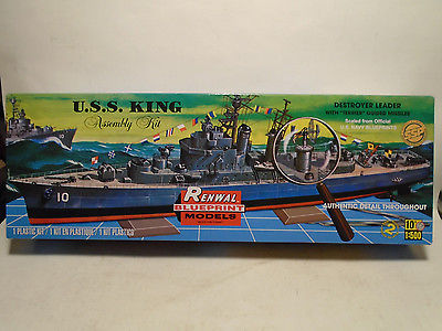 RENWAL #0603 1/500 U.S.S. KING DESTROYER LEADER NEW IN ORIGINAL BOX