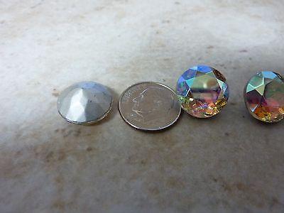 Think quality  14 mm crystal  rhinestone clear AB silver foiled WEST GERMANY