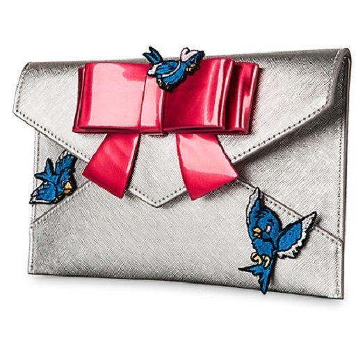 DISNEY DESIGNER CINDERELLA BLUEBIRDS AND BOW CLUTCH PURSE by Danielle Nicole NWT