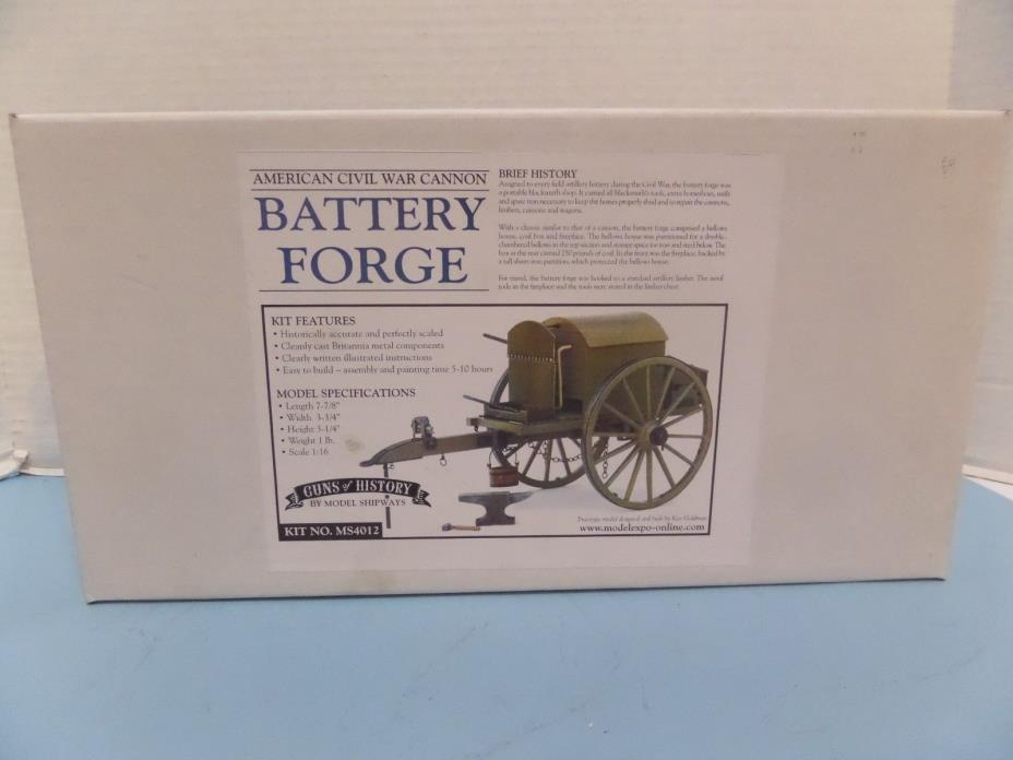 MODEL SHIPWAYS AMERICAN CIVIL WAR BATTERY FORGE MODEL 1/6 SCALE