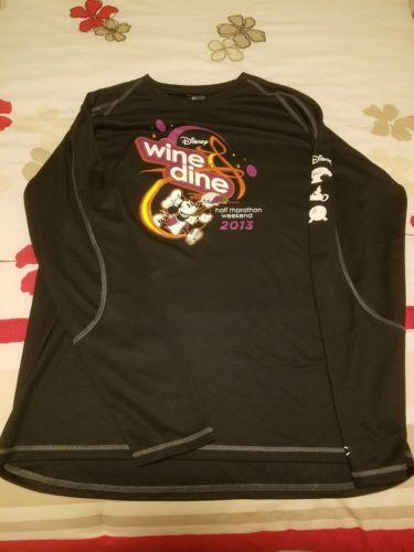 Run Disney Wine & Dine 2013 Race Tech Shirt Mens L