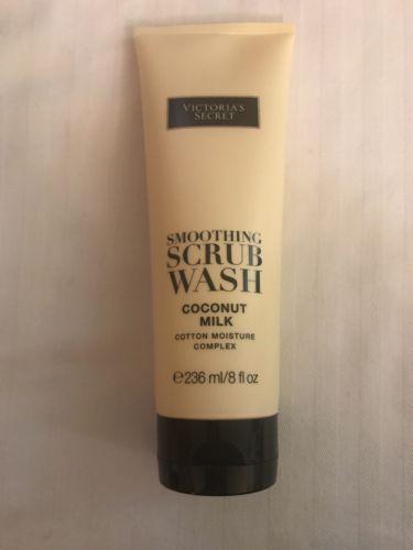 Victorias Secret Smoothing Scrub Wash Coconut Milk Cotton Moisture 8 oz