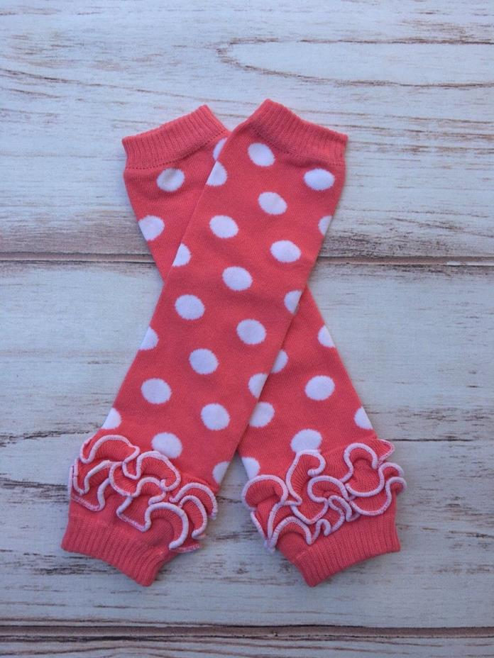 Pink dot Minnie mouse ruffled Baby Toddler girls Leg Warmers