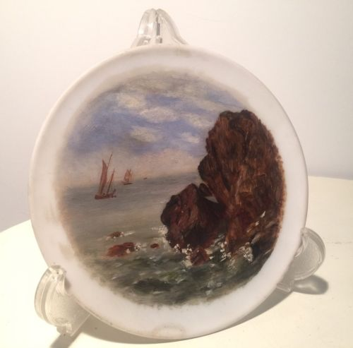 hand painted porcelain blank - ship ocean = awesome