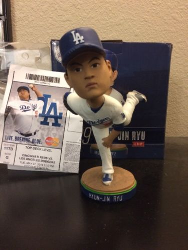 Hyun-Jin Ryu Dodgers Bobblehead New in Box SGA with Ticket