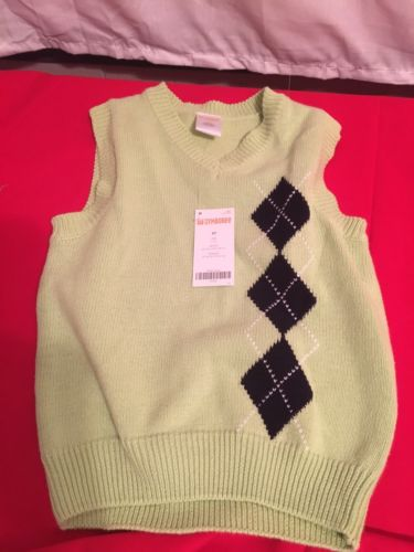 Gymboree Toddler Boys Sweater Vest Size 3T New With Tags MSRP 16.95