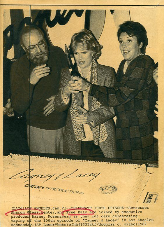 SHARON GLESS TYNE DALY CAGNEY & LACEY RARE ORIGINAL 1984 CBS TV PRESS MATERIAL