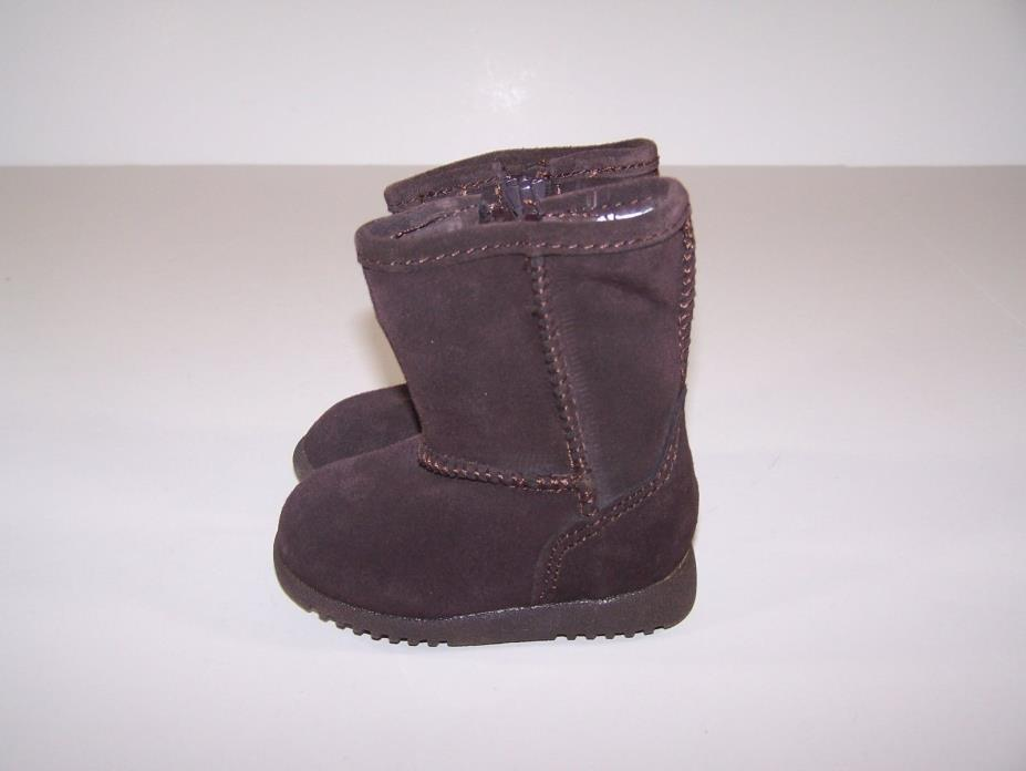 Circo Aubrey Infant Toddler Girls Brown Suede Boots Size 2 Free Shipping