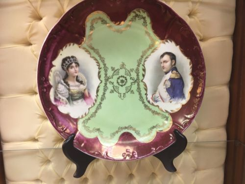 Hand Painted Antique Porcelain Charger