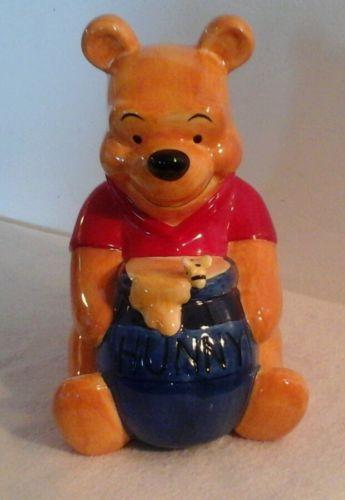 Disney Winnie The Pooh Hunny Pot Ceramic Bank 9 1/2