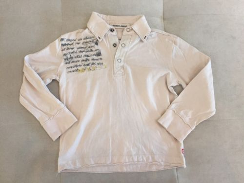 Guess Boys Polo Shirt Size 3T Light Beige Long Sleeve